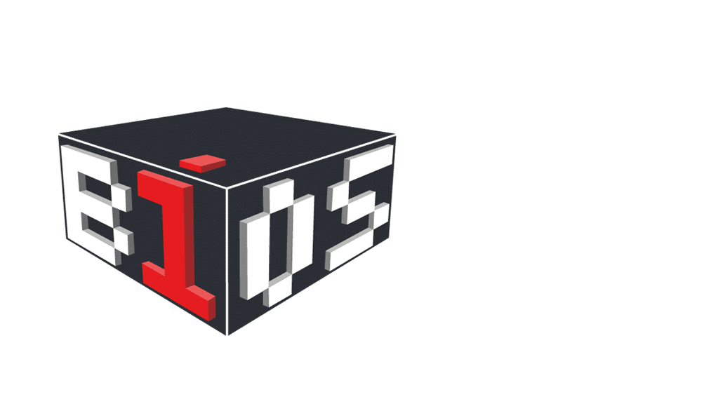 Software Entwicklung BIOS Logo auf grauen schrägen Hintergrund