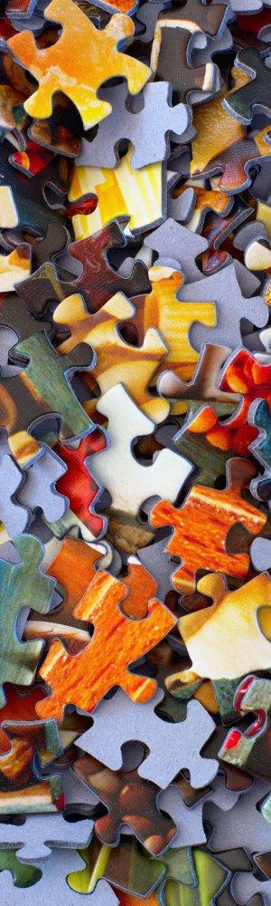 Karriere Viele Puzzleteile auf einem Haufen